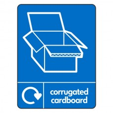 Corrugated Cardboard Recycling Sign (WRAP)