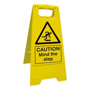 Caution Mind The Step Floor Stand