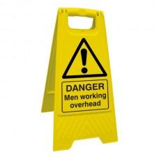 Danger Men Working Overhead Floor Stand