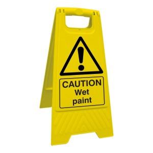 Caution Wet Paint Floor Stand