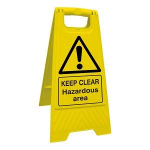 Keep Clear Hazardous Area Floor Stand