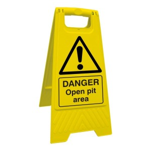 Danger Open Pit Area Floor Stand