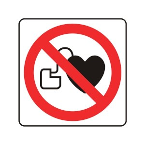 No Pacemakers Logo Sign