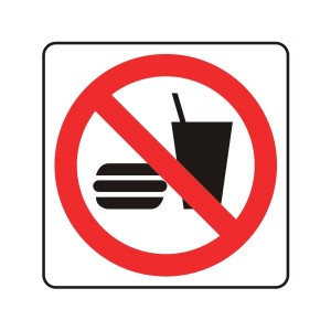 No Food Or Drink Logo Sign