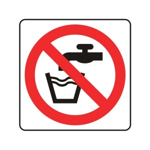 Not Drinking Water Logo Sign
