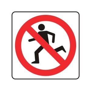 No Running Logo Sign