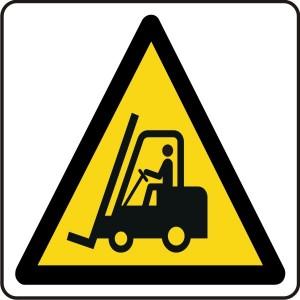 Warning Fork Lift Trucks Logo Sign