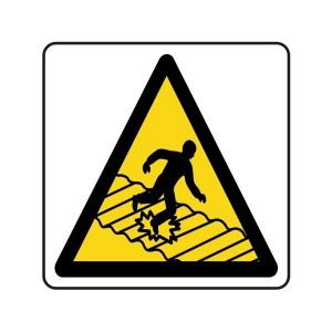 Warning Fragile Roof Logo Sign