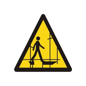Warning Scaffolding Incomplete Logo Sign