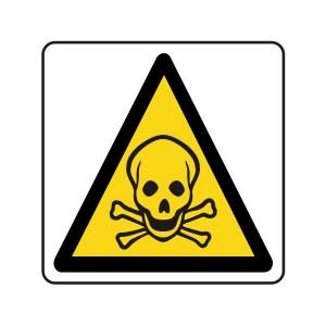 Warning Toxic Logo Sign