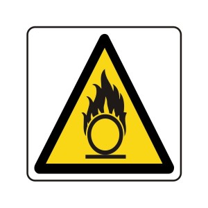 Warning Oxidant Logo Sign