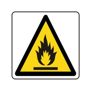 Warning Flammable Logo Sign