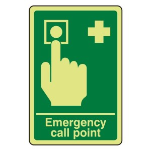 Photoluminescent Emergency Call Point Sign