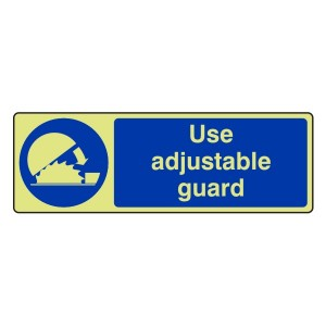 Photoluminescent Use Adjustable Guard Sign (Landscape)