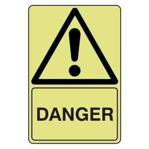 Photoluminescent Danger Sign
