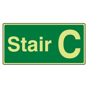 Photoluminescent Stair C Sign