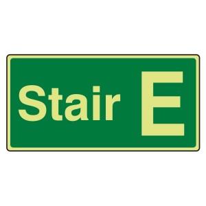 Photoluminescent Stair E Sign