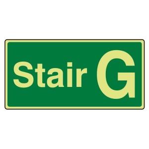 Photoluminescent Stair G Sign