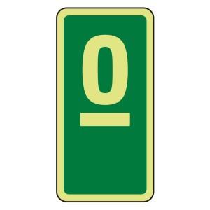 Photoluminescent Green Marker Number Sign
