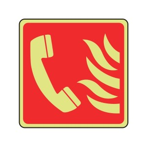 Photoluminescent Fire Phone Sign (Logo)