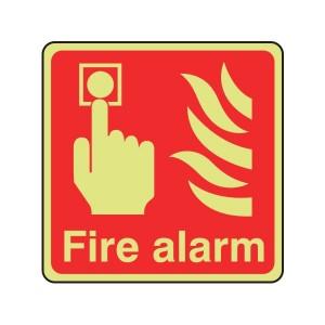 Photoluminescent Fire Alarm Sign (Logo)