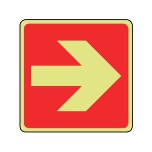 Photoluminescent Straight Arrow Sign (Logo)