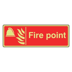 Photoluminescent Fire Point Sign (Landscape)