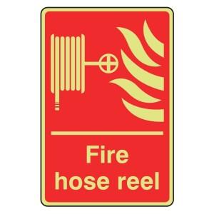 Photoluminescent Fire Hose Reel Sign (Portrait)