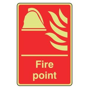 Photoluminescent Fire Point Sign (Portrait)