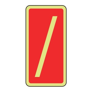 Photoluminescent Marker Number Forward Slash Sign (red)