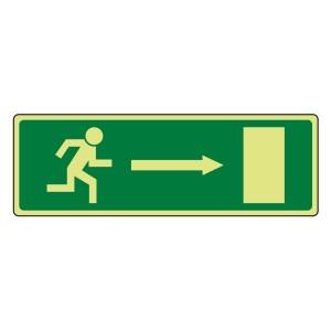 Photoluminescent EC Fire Exit Arrow Right Sign