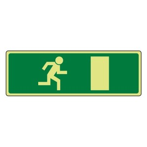 Photoluminescent EC Final Fire Exit Man Right Sign