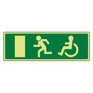 Photoluminescent EC Wheelchair Final Fire Exit Man Left Sign