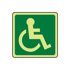 Photoluminescent Wheelchair Logo Sign (right)