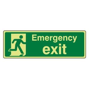 Photoluminescent Emergency Exit Sign