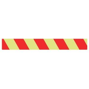 Photoluminescent Red Chevron Marking Strip Sign