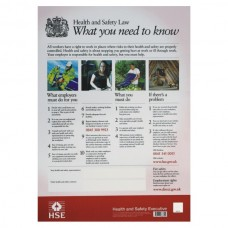 297x420mm Health and Safety Law Poster