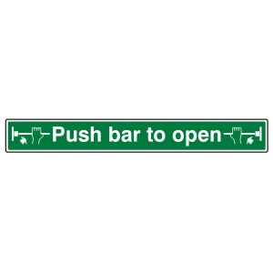 Push Bar To Open Sign (Long Landscape)