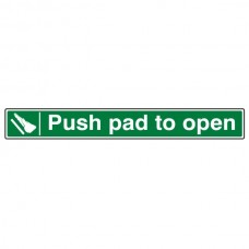 Push Pad To Open Sign (Long Landscape)